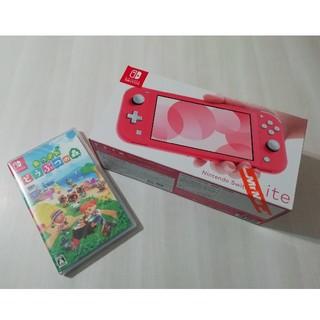 ニンテンドースイッチ(Nintendo Switch)のNintendo Switch Lite コーラル・あつまれどうぶつの森セット(家庭用ゲーム機本体)