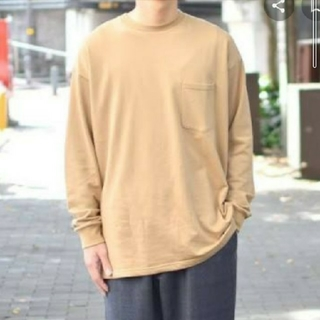 1LDK SELECT - Graphpaper L/S Pocket Sweat Tee beige