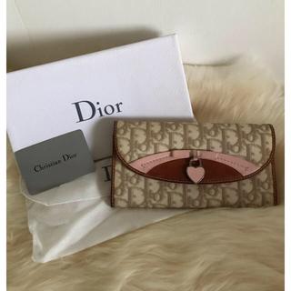 Christian Dior - Dior レザー長財布 トロッター ピンクベージュ Christian Dior