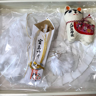 めぐ様専用☆お宮参り スタイ  帽子(お宮参り用品)