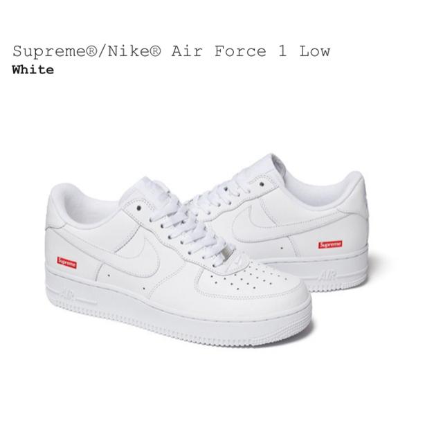Supreme(シュプリーム)の【Supreme】Nike Air Force 1 Low White 8.5 メンズの靴/シューズ(スニーカー)の商品写真