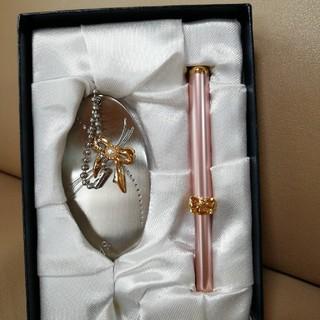 ミキモト(MIKIMOTO)のミキモト 手鏡 紅筆 セット(ミラー)