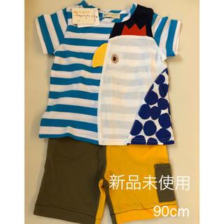 センスオブワンダー(sense of wonder)の【新品未使用】90cm Tシャツ&パンツセット(Tシャツ/カットソー)