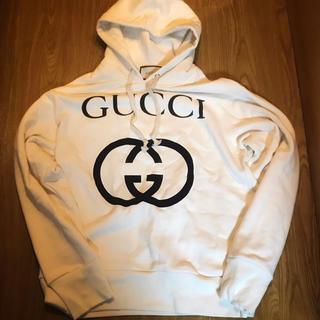 グッチ(Gucci)のGUCCI 白 インターロッキング パーカー スウェット グッチ(パーカー)