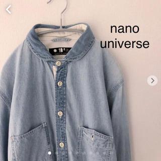 ナノユニバース(nano・universe)のナノユニバース  デニム シャツ 長袖 Lサイズ nano・universe (シャツ)