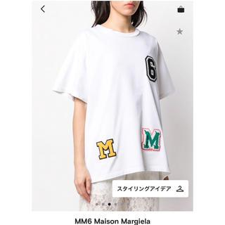 MM6 - 新品ダグ付★mm6 ワッペン オーバーサイズTシャツ XS