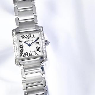Cartier - 【仕上済】カルティエ フランセーズ SM ダイヤ シルバー レディース 腕時計