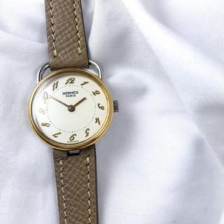 Hermes - 【仕上済】エルメス アルソー コンビ ゴールドインデックス レディース 腕時計