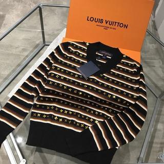 ルイヴィトン(LOUIS VUITTON)のLouisVuitton STRIPED V-NECK セーター(ニット/セーター)