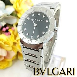 BVLGARI - 希少 美品 ブルガリ BB26SS ロゴ 12Pダイヤモンド レディース腕時計