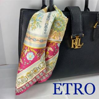 エトロ(ETRO)の美品 エトロ ペイズリー ミニスカーフ(バンダナ/スカーフ)