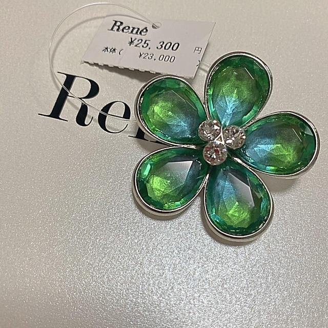 René(ルネ)の新品 ルネ ブローチ 花 フォクシー レディースのアクセサリー(ブローチ/コサージュ)の商品写真