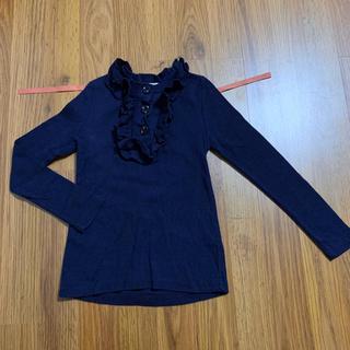 韓国子供服 FLO バックリボン付きカットソー 9 110 フロー 長袖Tシャツ(Tシャツ/カットソー)