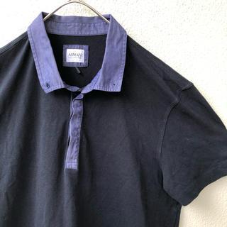 アルマーニ コレツィオーニ(ARMANI COLLEZIONI)のアルマーニコレッツォーニ 黒 ポロシャツ ARMANI COLLEZIONI L(ポロシャツ)