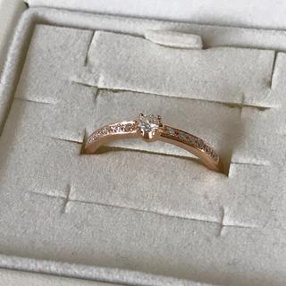 4℃ - 4°C プレジェンスリング k18 ピンクゴールド ダイヤモンドリング