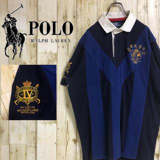 POLO RALPH LAUREN - ポロバイラルフローレン ワンポイントロゴ スリーブロゴ 切替 半袖ラガー XL