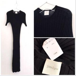jonnlynx - 完売 jonnlynx  黒 wide rib dress