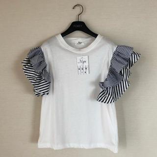チェスティ(Chesty)のmyu 袖フリルトップス Tシャツ 新品未使用(Tシャツ(半袖/袖なし))