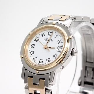 Hermes - 【HERMES】エルメス腕時計 'クリッパー' コンビモデル ☆ホワイト文字盤☆