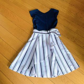 Rirandture - リランドチュール ストライプ巻きスカート Mew's 後ろネックレス付カットソー