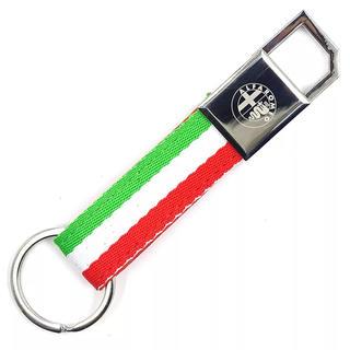 アルファロメオ(Alfa Romeo)の《新品》 アルファロメオ  国旗デザイン キーリング(車内アクセサリ)