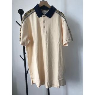 Gucci - GUCCI インターロッキングG ストライプ ポロシャツ