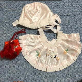ココ様専用★涎掛け 帽子 お守り 3点セット 女の子用 ピンク(お宮参り用品)