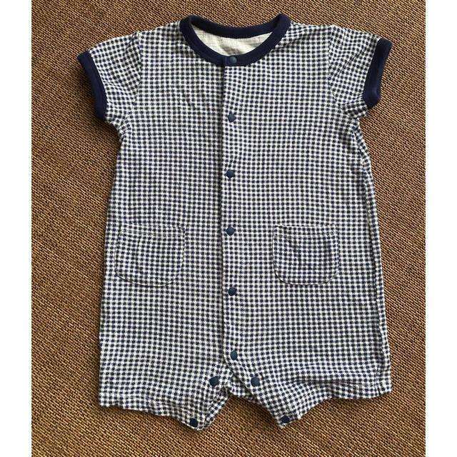 UNIQLO(ユニクロ)のUNIQLO ショートオール サイズ70 キッズ/ベビー/マタニティのベビー服(~85cm)(ロンパース)の商品写真