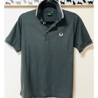 FRED PERRY - 【超美品】FRED PERRY(フレッドペリー)★灰×白★半袖ポロシャツ★M★