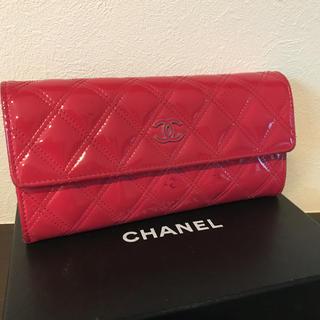 シャネル(CHANEL)のシャネル マトラッセ エナメルピンク色財布(財布)