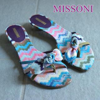 ミッソーニ(MISSONI)のMISSONI◆VARIANTE ニット トング サンダル リボン ビーチ 36(サンダル)