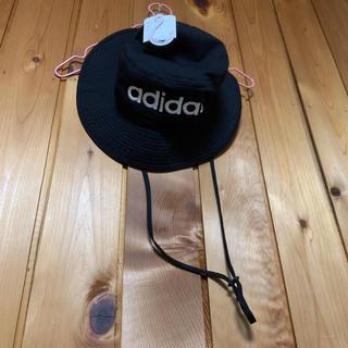adidas - adidasバケットハット ブラック ロゴ刺繍 アディダス