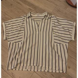ローリーズファーム(LOWRYS FARM)のストライプ シャツ(シャツ/ブラウス(半袖/袖なし))