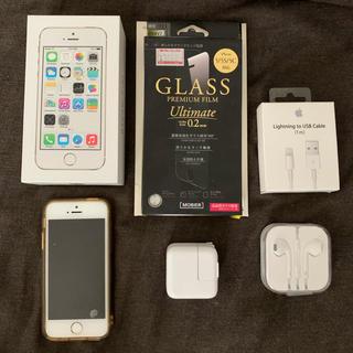 アップル(Apple)のApple iPhone5S ゴールド 16GB docomo 追加品多数(スマートフォン本体)