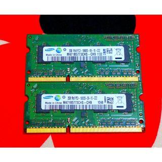 SAMSUNG - 4GB 2GB×2枚 SAMSUNG PC3-10600S DDR3 メモリ