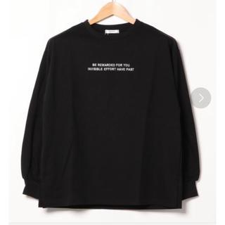 イング(INGNI)の(新品)イング ベーシック ロゴロンTシャツ(Tシャツ(長袖/七分))