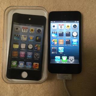 アイポッドタッチ(iPod touch)のipod touch4 本体、充電器 32GB(ポータブルプレーヤー)