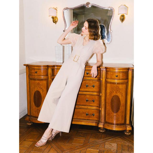 eimy istoire(エイミーイストワール)のeimy istoire 新品シアースリーブバックルオールインワン レディースのパンツ(オールインワン)の商品写真