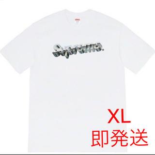 シュプリーム(Supreme)のSupreme Chrome Logo Tee 白 XL(Tシャツ/カットソー(半袖/袖なし))