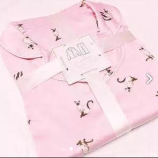 GU - GU パジャマ サテン ピンク ねこ 猫