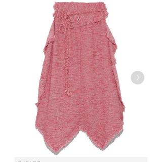 スナイデル(snidel)のSNIDEL ツイード スカート pnk 0(ロングスカート)