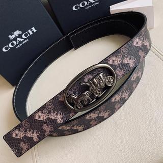 COACH - COACH コーチ 新作馬車 メンズ リバーシブル レザーxPVC ベルト