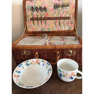 食器セット 小鉢&コップ&スプーン&フォーク 各4個