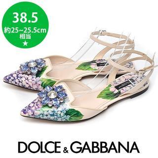 ドルチェアンドガッバーナ(DOLCE&GABBANA)の美品❤️ドルチェ&ガッバーナ ビジュー パンプス 38.5(約25-25.5(ハイヒール/パンプス)
