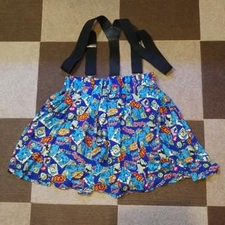 ディズニー(Disney)のモンスターズインクのサスペンダー付きスカート(ミニスカート)