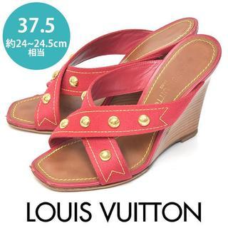 LOUIS VUITTON - ルイヴィトン ボタン クロス サンダル 37.5(約24-24.5cm)