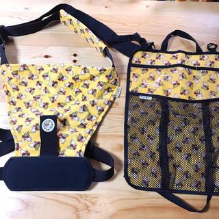 ヒステリックミニ(HYSTERIC MINI)のヒスミニ抱っこ紐▪︎座席背面カバー▪︎2点セットまとめ売り▪︎黄色イエロー(抱っこひも/おんぶひも)