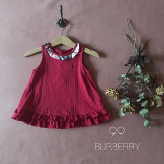 BURBERRY - BURBERRY バーバリーチェック 大人可愛いチュニック*̩̩̥୨୧˖