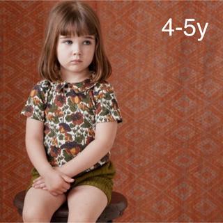 Bonpoint - 新品タグ付き‼️misha&puff 花柄Tシャツ4-5y ミーシャアンドパフ