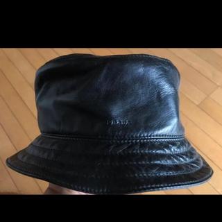 PRADA - PRADA バケハ レザー プラダ bucket hat
